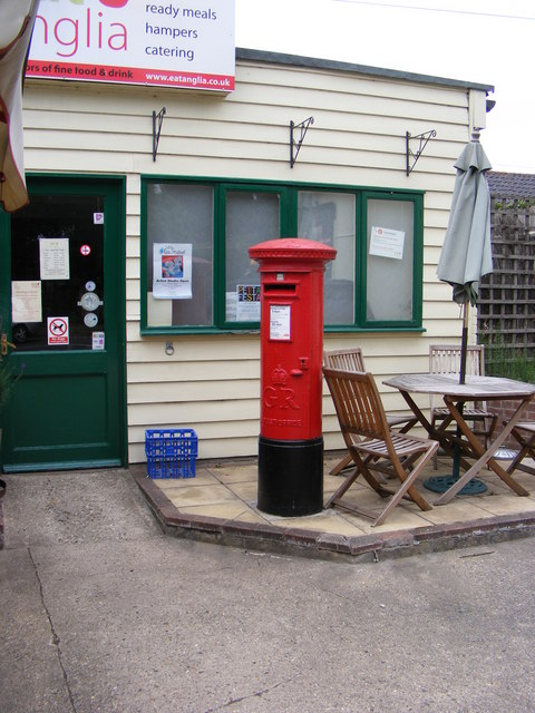 Earl Soham Post Office & The Street Post Office George V Postbox