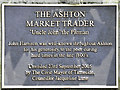 SJ9399 : The Market Trader (plaque) by David Dixon
