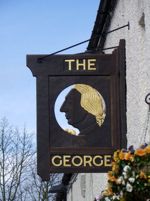 Sign for the George Hotel