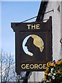 NZ2115 : Sign for the George Hotel by Maigheach-gheal