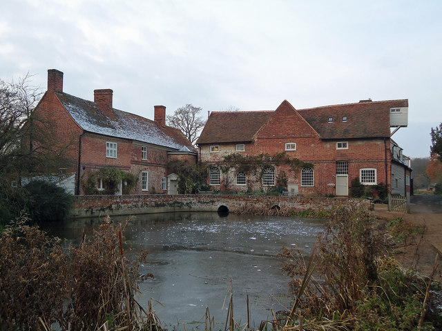 Flatford Mill with a November Frost