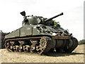 TG4700 : Sherman tank at Fritton Lake by Evelyn Simak