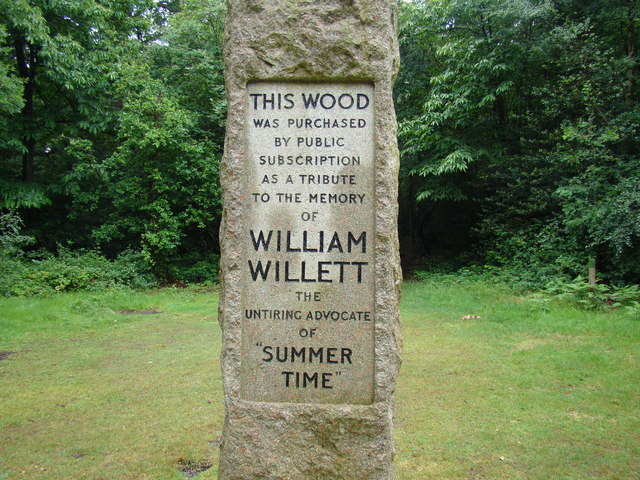 William Willett Memorial Sundial