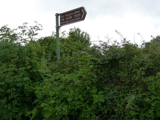 Signpost to the Alder trees
