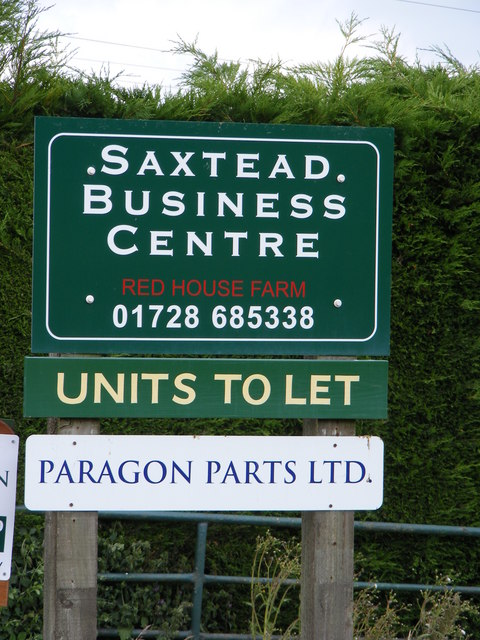 Sign at Saxtead Business Centre
