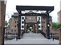 TQ3779 : Glengall Bridge, Millwall Dock by Malc McDonald