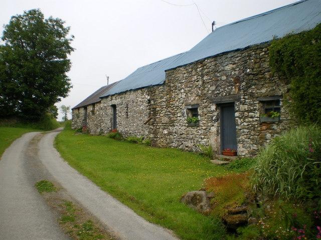 Stone barns at Glynmaen Farm