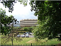 TQ1977 : View of the National Archives from the Thames Riverside path by Robert Lamb