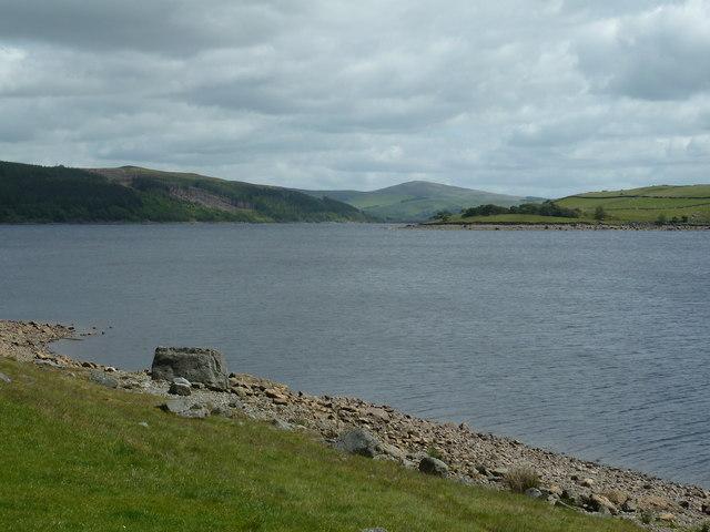 Easterly view of Llyn Celyn