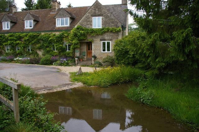 Duntisbourne Rous ford, from the footbridge