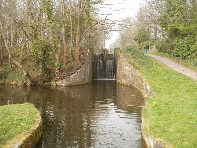 Canal lock south of Five Locks Road, Cwmbran