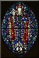 TQ3585 : St Barnabas, Homerton High Street - Stained glass window by John Salmon