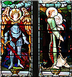 TM3464 : St Michael's church in Rendham - east window by Evelyn Simak