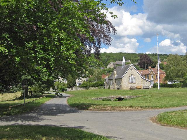 Old school and remains of a bridge, Sinnington