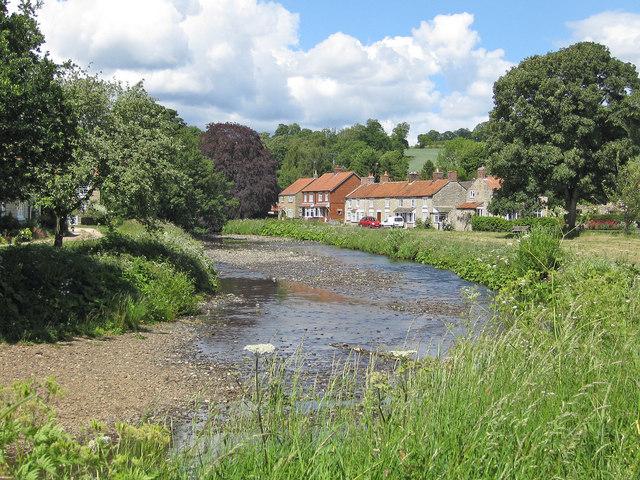 View from a riverside seat near Sinnington Bridge