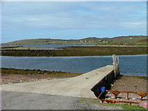 NB9811 : Slipway on Old Dorney Bay by Dave Fergusson