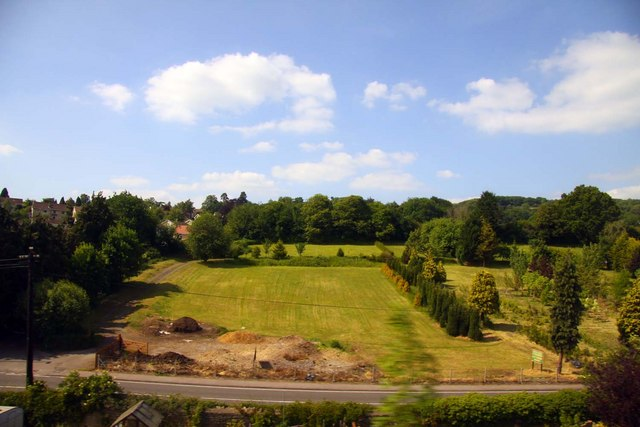 Grass and trees at Bathford Nurseries