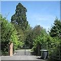 SP2064 : Gates to Claverdon Leys Farm, Star Lane by Robin Stott