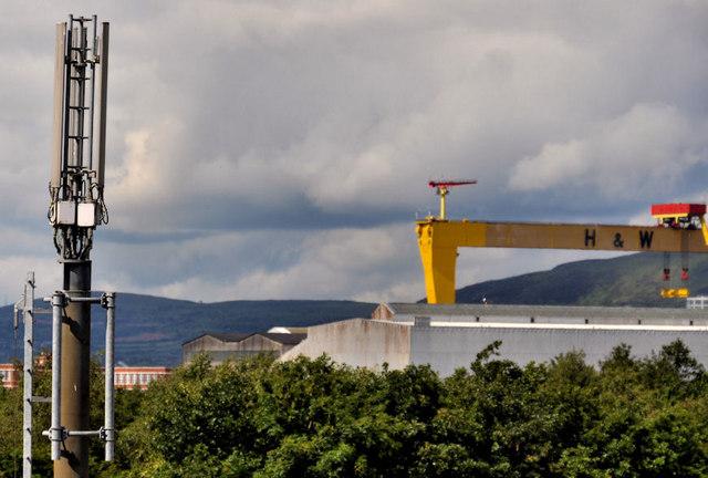 Telecommunications mast, east Belfast