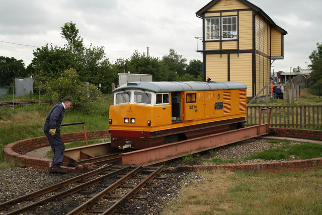 Turntable at Wroxham Bure Valley Railway station
