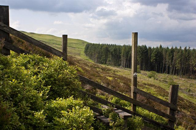 A stile on Horrocks Moor