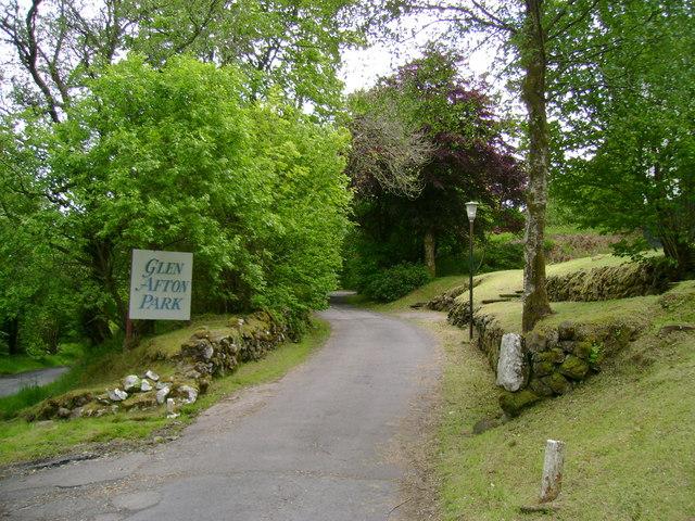Glen Afton Park driveway