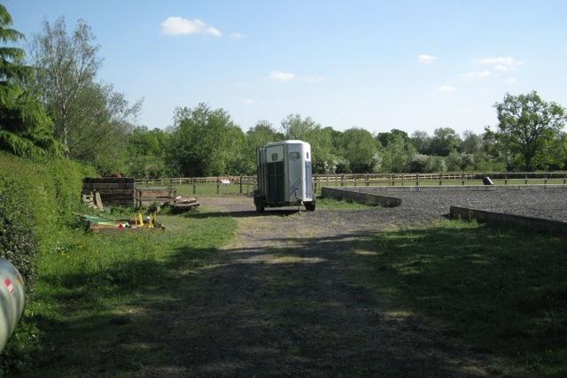 Horsebox, manège and paddock, Pinley Green