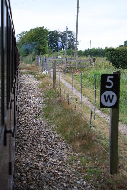 Approaching the level crossing near Spratt's Green Farm