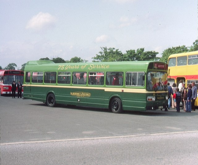 A Leyland National bus near Aldershot (1)