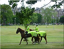 NT2572 : Mounted police in the Meadows by kim traynor