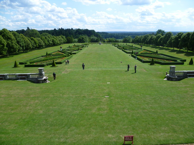 View from the terrace at Cliveden House to the Parterre