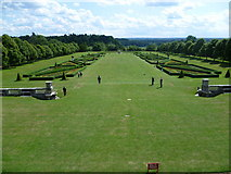 SU9185 : View from the terrace at Cliveden House to the Parterre by Marathon