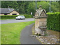 NY6665 : Water fountain by the B6318 in Greenhead by Rod Allday