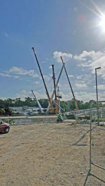 Ashford - footbridge over M20 under construction