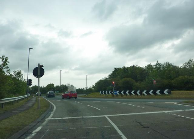 Roundabout southeast of Offerton