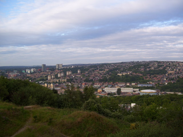 Sheffield from Parkwood Springs