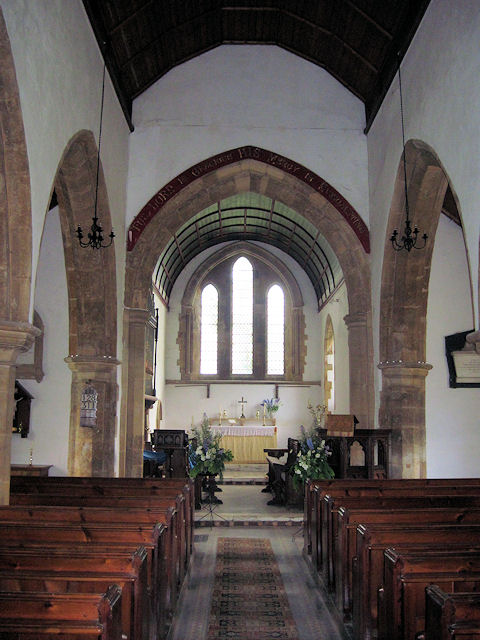 Interior of Thoresway church