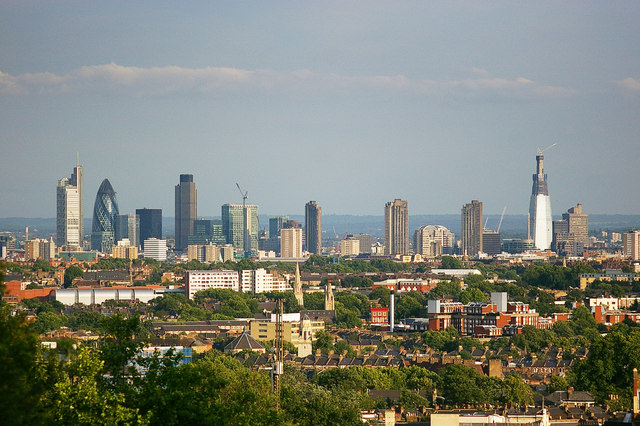 View of the City of London from Archway Bridge
