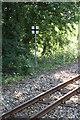 TG2920 : Bure Valley Railway warning sign by Glen Denny