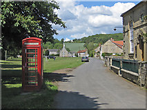SE7485 : Sinnington village green and phonebox by Pauline E