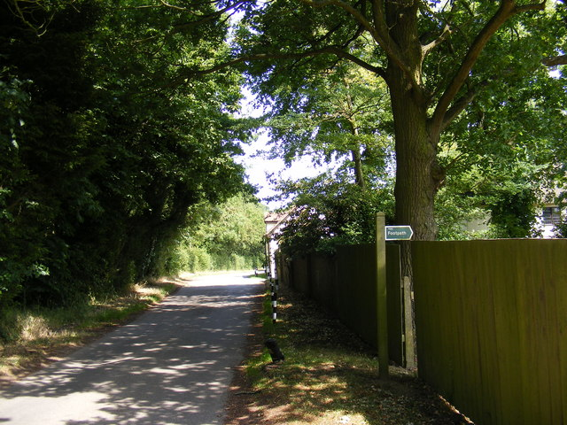 Chapel Road  (U2123) and footpath to A1120 Several Road
