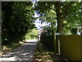 TM2565 : Chapel Road  (U2123) and footpath to A1120 Several Road by Geographer