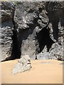 SX6937 : Sea caves at Soar Mill Cove by Philip Halling
