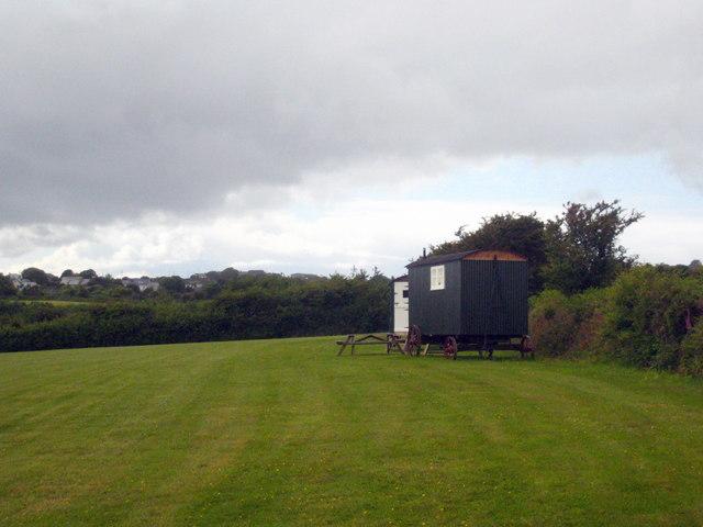 Shepherds' huts at Lower Dacum Farm