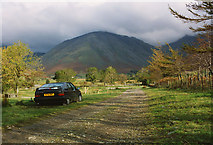 NY1807 : Wasdale Head campsite in October by Nigel Brown