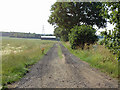 TL8103 : Track and footpath to Little Grange Farm by Roger Jones