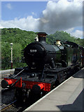 SK0247 : Steam locomotive at Froghall, Staffordshire by Roger  Kidd