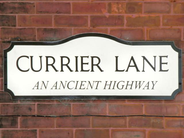 Currier Lane Sign