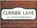 SJ9498 : Currier Lane Sign by David Dixon