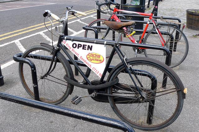 Recycling, a mobile advert, Sandwich, Kent